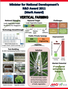Skygreens Vertical Farm Merit Award